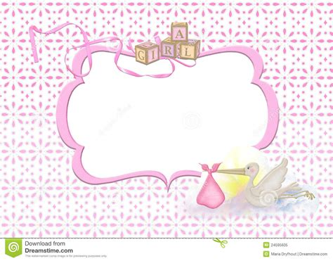 girl frame baby girl frame stock illustration image of stork