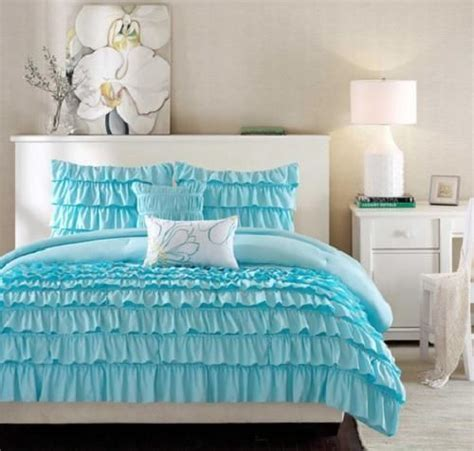 twin bedding for teenage girl twin twin xl girls teen blue romantic ruffled ruffles comforter bedding set romantic