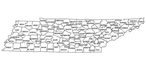 map of tennessee counties map of tennessee