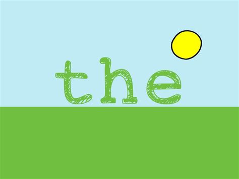the sight word song for the word quot the quot