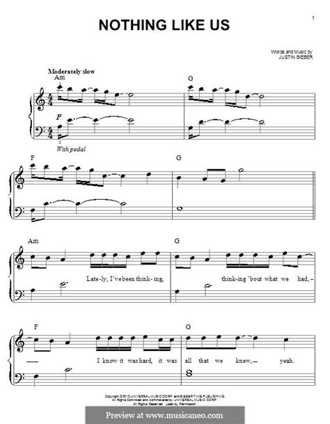 justin bieber nothing like us krafta nothing like us by j bieber sheet music on musicaneo