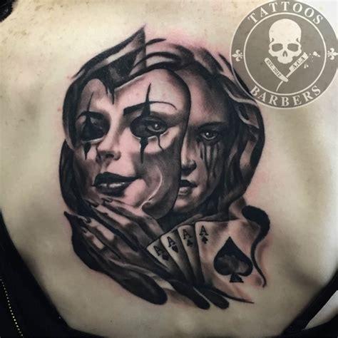 batman mask tattoo on face tattoo studio a cut of art tattoo shop and barbershop