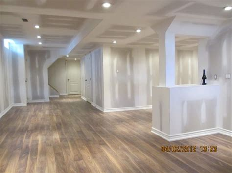 Basement Laminate Flooring Aggroup Inc Digenova Basement Laminate Floor Finished Ready For Paint