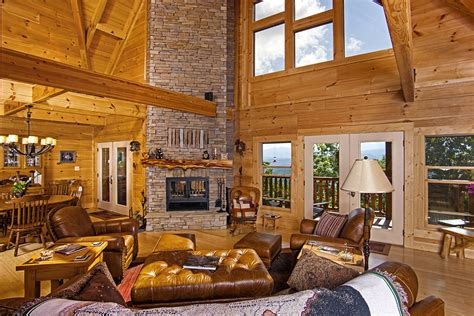Log Home Interior Photos by Chilhowee Final Pics Custom Timber Log Homes