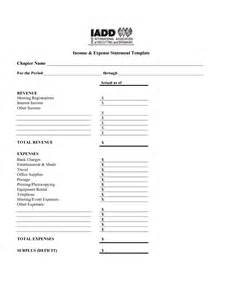 income expense statement template best photos of revenue and expenses template income and
