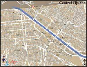 Tijuana Mexico Map by Tijuana Map In Baja Go Gringo