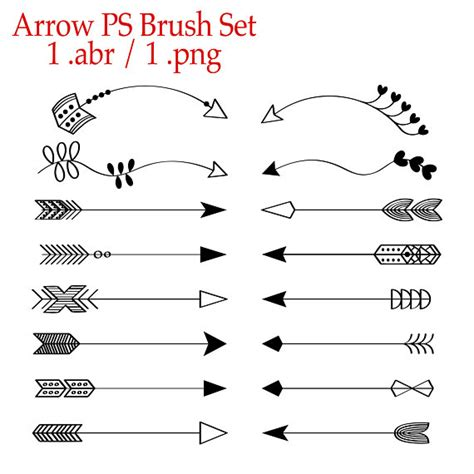 arrows photoshop brush set photoshop brushes photoshop