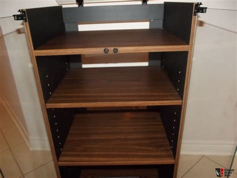 stereo cabinet with turntable shelf audio rack stereo cabinet vintage new glass top turntable
