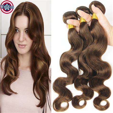 color 4 weave grade 8a hair weave bundles color 4 light brown