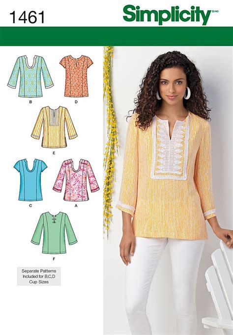 Pattern Review Simplicity 1461 | tunic sewing patterns uk long sweater jacket
