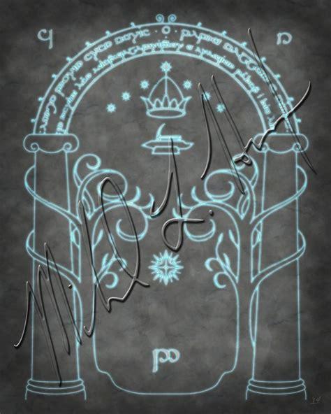 Door To Moria by Lord Of The Rings Door To Moria Minimalist Print
