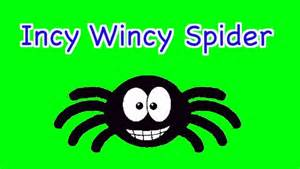 Spider Nursery Rhyme by Incy Wincy Spider Climbed Up The Water Spout Nursery