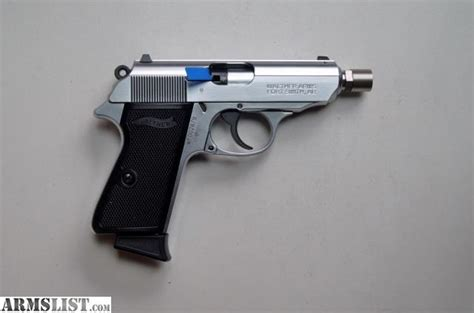Walther Ppk S 22lr Nickel armslist for sale walther ppk s 22lr nickel n i b
