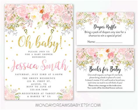 Floral Themed Baby Shower by Flower Themed Baby Shower Invitations Oxyline 75d4da4fbe37
