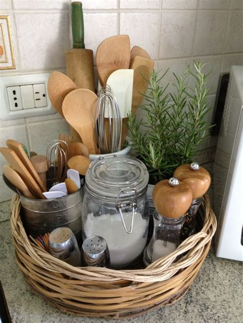 Kitchen Countertop Storage Ideas 25 Best Ideas About Storage Baskets On Baskets Decorating With Kitchen Baskets And