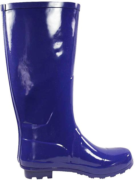 womans rubber boots norty womens boots rubber solid color hi calf height
