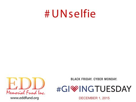Giving Tuesday Unselfie Giving Tuesday Template