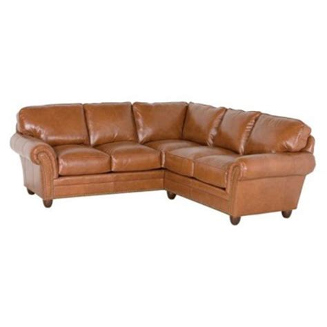 classic leather sectional classic leather 694 laf 692 raf sectional sofas keswick