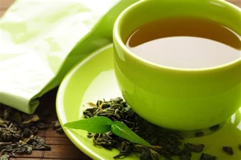 healthy green tea cup with tea leaves gudang ngelmu