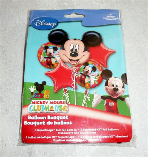happy birthday mickey mouse balloon bouquet 5pc from