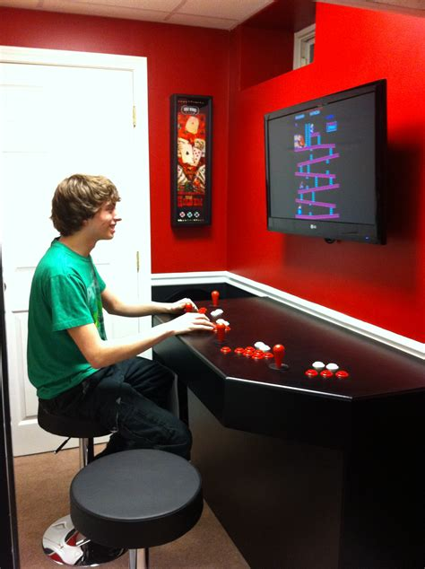 full size arcade cabinet plans xtension pedestal arcade cabinet plans home fatare