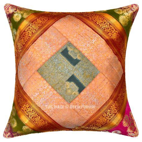 Unique Decorative Pillows Decorative Handcrafted Unique Silk Sari Brocade Throw