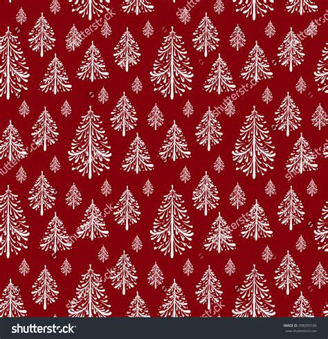 christmas paper pattern vector seamless pattern christmas trees holiday paper stock