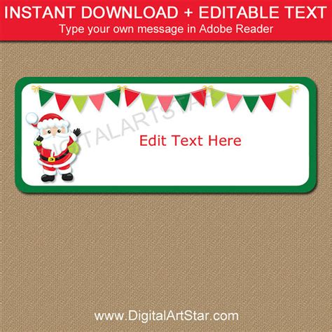 printable return address labels christmas santa address labels santa return address label template