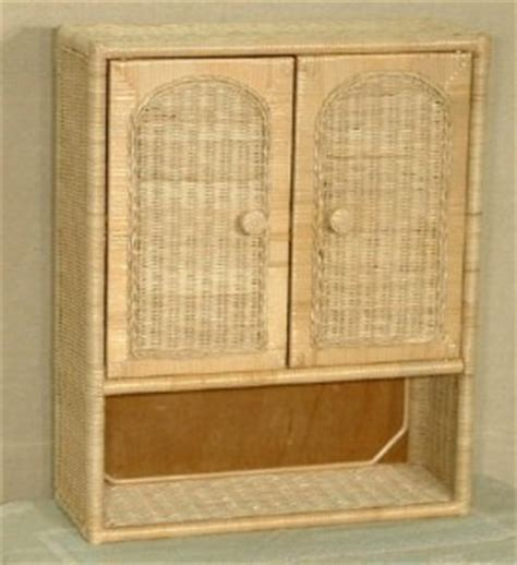 Wicker Wall Cabinets   Wicker Medicine Cabinets