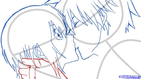 kiss tutorial drawing how to sketch an anime kiss step by step anime people
