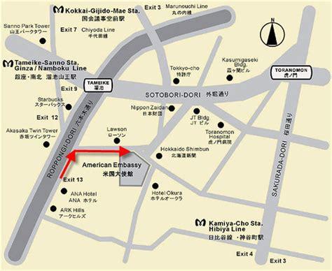 map us embassy tokyo buyusa gov 大使館地図