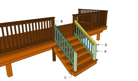 Building A Banister On A Staircase How To Build A Porch Stair Railing Howtospecialist How