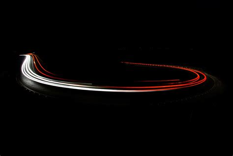 Lighting Cars At Car Light Trails By Felix Tchvertkin