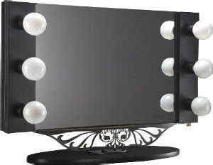 on sale starlet table top lighted vanity mirror 34 quot black