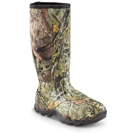 mossy oak boots s guide gear wood creek waterproof rubber