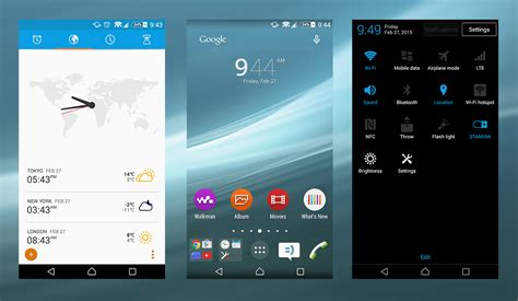 themes xperia xperia material nxt blue theme based on sony s lollipop design