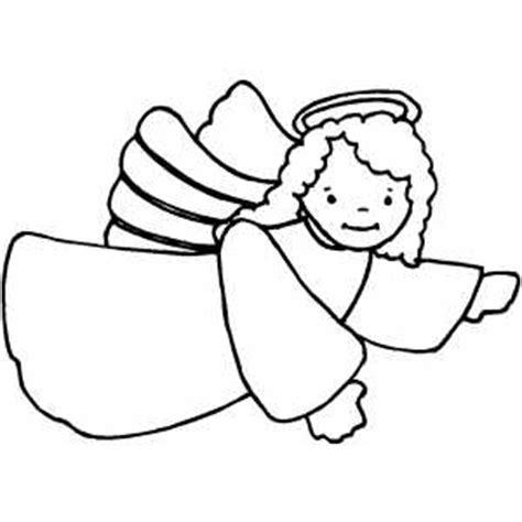 Flying Angel Coloring Page | flying pointing angel coloring page