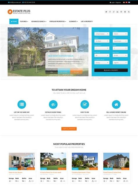 Real Estate Templates Doliquid Realtor Website Design Templates