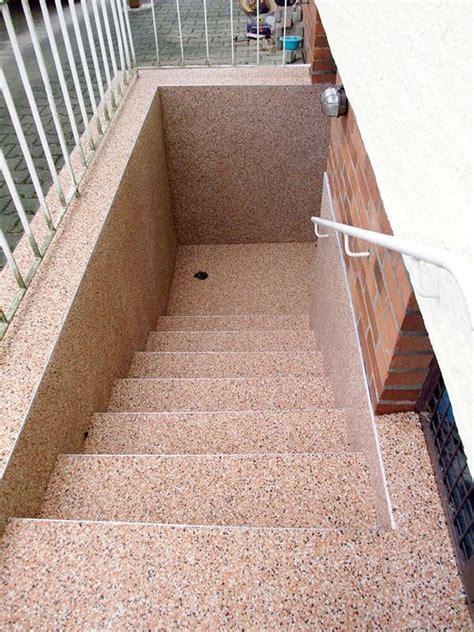 steinteppich auf kellertreppe www steinteppiche net