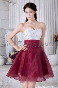 beaded cute white and burgundy sweet 15 dress img 6949 1st