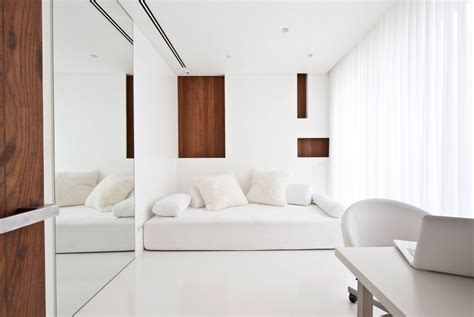 white home interiors apartment awash with walnut white