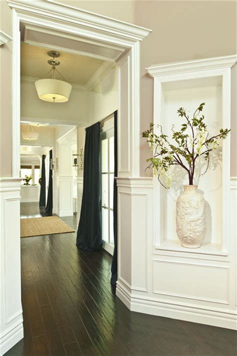 Foyer Niche by Cheshire Foyer Navy Blue And White Traditional Entry