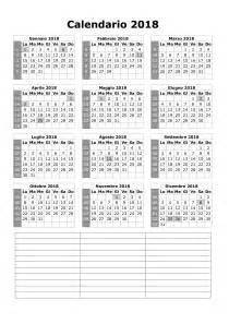 Calendario Annuale 2018 Calendario 2018
