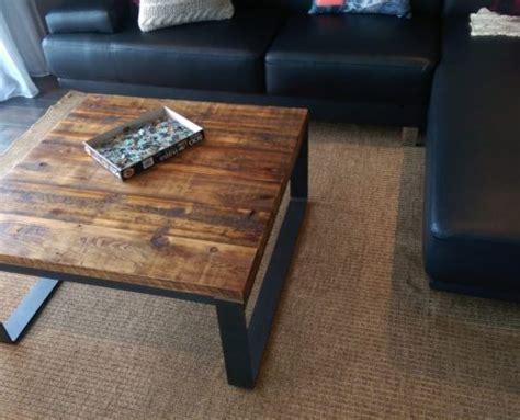 Table En Bois De Grange by Table De Salon Bois M 233 Tal Table Basse Table Caf 233 Bois