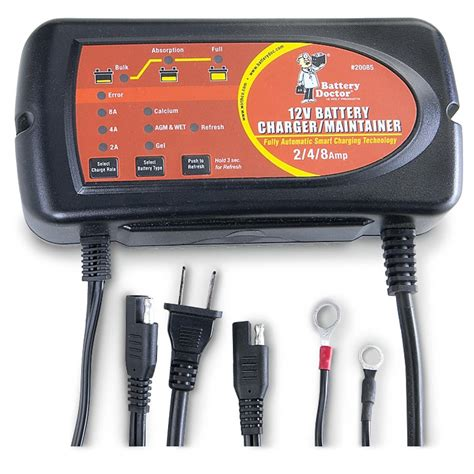 Smart Charger 21 A 1 battery doctor 174 2 4 8 12v smart charger 163074 chargers jump starters at sportsman s guide