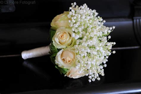 Beige Green by Wedding In Italy Elegante Bouquet Da Sposa Di Mughetto E