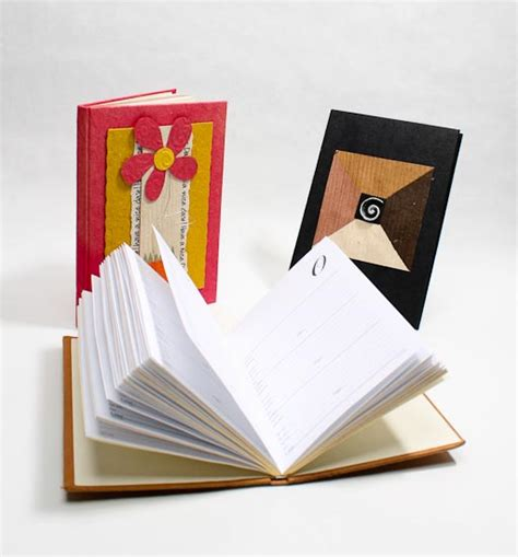 Handmade Paper Books - handmade paper address book craft books craft supplies