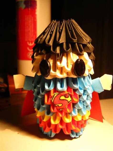3d Origami Superman - 3d origami superman by teubo on deviantart