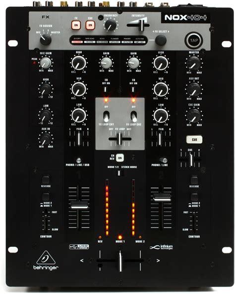 Mixer Behringer 2 Channel behringer pro mixer nox404 2 channel dj mixer sweetwater