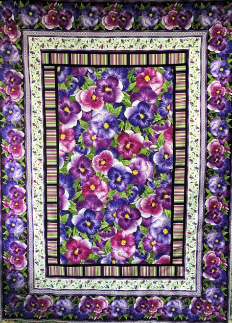 Pansy Quilt by Pansy Delight Quilt Kit 48 X 66